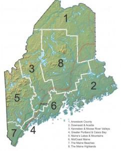 Maine Vacation Travel Regions