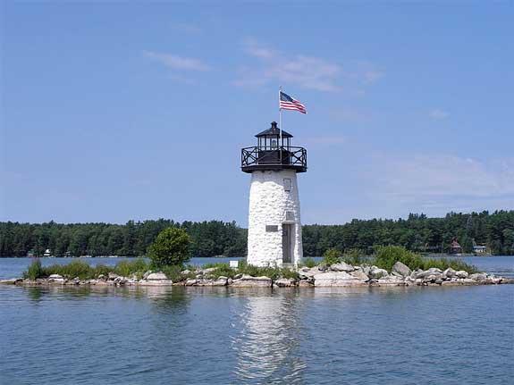 Cobbosseecontee Lake Lighthouse.
