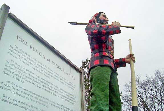 Paul Bunyan Statue, Bangor Maine