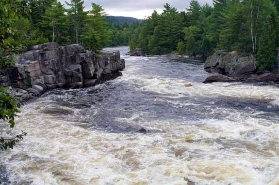 Penobscot River Cribworks Rapids