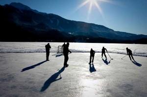 Maine Ice Skating Pond