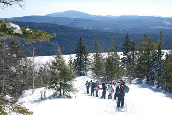 Maine Snowshoeing Trip