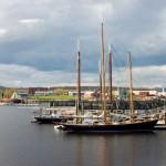 Schooners-docked-in-Rockland-Maine-Harbor